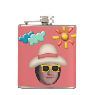 Add Your Photo To A Summer Sunglasses Theme Flasks