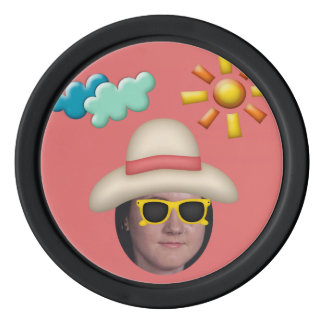 Add Your Photo To A Summer Sunglasses Theme Set Of Poker Chips