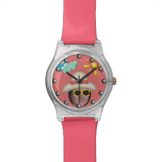 Add Your Photo To A Summer Sunglasses Theme Wristwatch