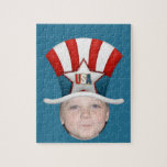 Add Your Photo To A USA Stars & Stripes Hat Jigsaw Puzzles