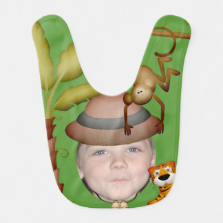 Add Your Photo To A Wild Jungle Safari Theme Baby Bib