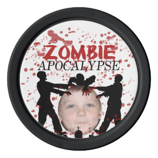 Add Your Photo To A Zombie Apocalypse Invasion Poker Chips