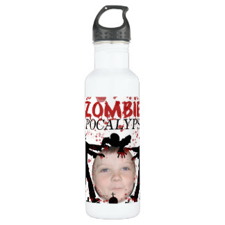 Add Your Photo To A Zombie Apocalypse Invasion Stainless Steel Water Bottle
