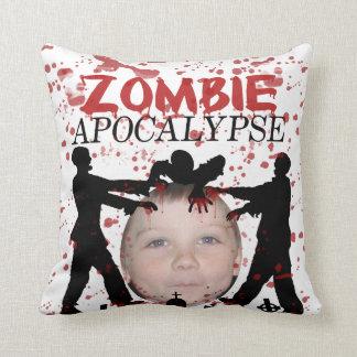 Add Your Photo To A Zombie Apocalypse Invasion Throw Pillow