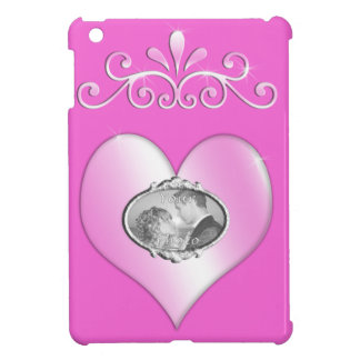 Add Your Photo to Pink Heart iPad Mini Case