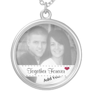 Add Your Photo, Together Forever & Heart Necklace