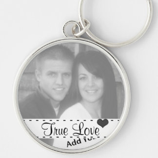 Add Your Photo True Love With A Heart Key Chain