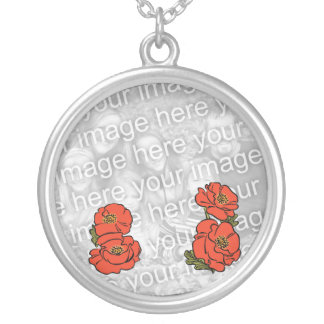 Add Your Photo! Vintage Wizard of Oz Red Poppies Custom Necklace