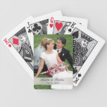 Add Your Photo Wedding Black Playing Cards