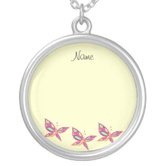 Add your Photo  with Butterflies Necklace