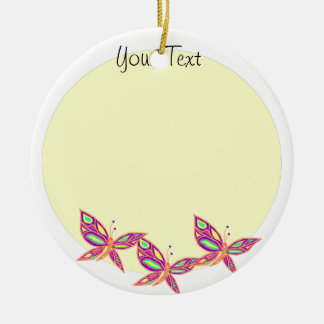Add your Photo  with Butterflies Ornament