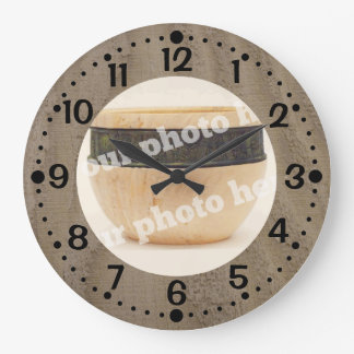 Add Your Photo Wood Look Clock w/ Minutes