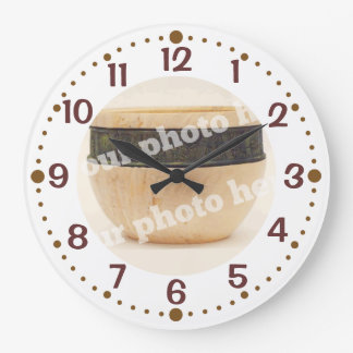 Add Your Photo Woodturning Clock w/ Minutes