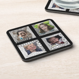 Add-Your-Photos 4 Photo Collage Beverage Coaster