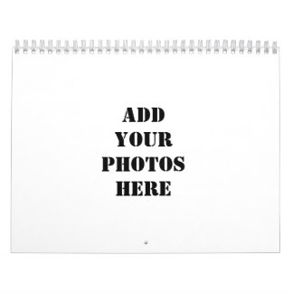 Add your photos here calendar