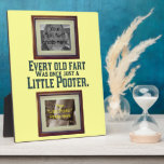 Add Your Photos - Old Fart and Little Pooter Photo Plaque