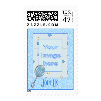 Add your picture Baby Shower Postage Stamp