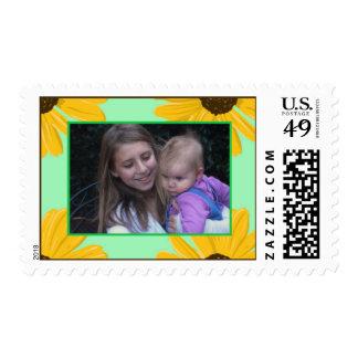 Add Your Picture: Black-Eyed Susan Framed Stamp