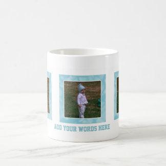 Add Your Picture: Blue Framed Mug