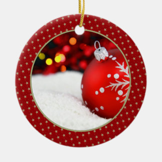 Add Your Picture Gold Star Keepsake Ornament