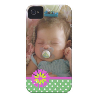 Add Your Picture: Polka-dot iPhone 4 Case-Mate Case