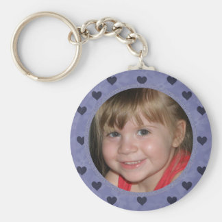 Add Your Picture: Purple Heart Framed Keychain
