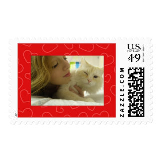 Add Your Picture: Red Heart Framed Stamp