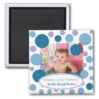 Add Your Picture: Sea Bubbles Framed Magnet