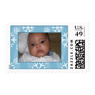 Add Your Picture: Snow Framed Stamp