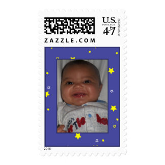 Add Your Picture: Starry Nite Framed Stamp