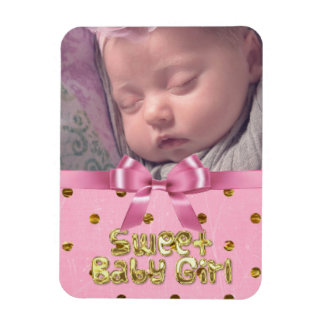 Add your picture to this Baby Girl Photo Magnet