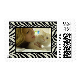 Add Your Picture: Zebra Framed Stamp
