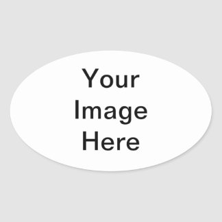 Add your pictures, text and graphics to a product! oval sticker