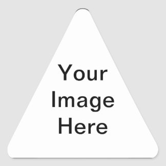 Add your pictures, text and graphics to a product! triangle sticker