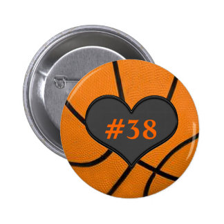 Add Your Players Number Heart Basketball Button