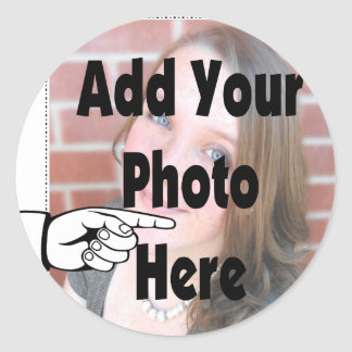 Add your special Photograph Picture Classic Round Sticker