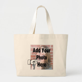 Add your special Photograph Picture Large Tote Bag