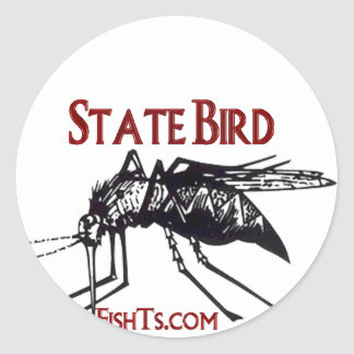 Add Your State Name-State Bird Classic Round Sticker