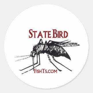 Add Your State Name-State Bird Classic Round Sticker