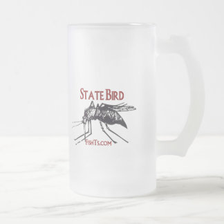 Add Your State Name-State Bird Frosted Glass Beer Mug