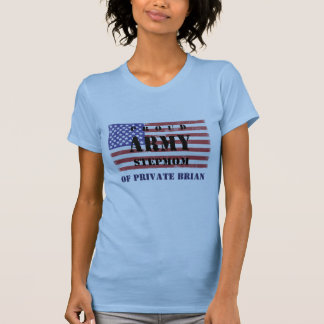 Add Your Step Child's Name Proud Army Stepmom  Shi T-Shirt