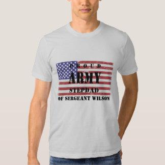 Add Your Stepchild's Name Proud Army Stepdad Shirt