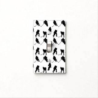 Add Your Team Colors Hockey Pattern Light Switch Cover