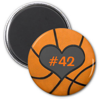 Add Your Team Players Number Basketball Magnet