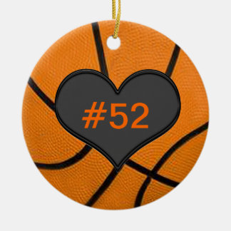 Add Your Team Players Number Basketball Ornament
