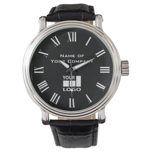 Add Your Text and Logo Antique Roman Numerals Watch