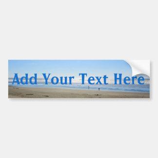 Add your text beach bumper sticker car bumper sticker