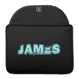 ADD YOUR TEXT! BLACK and TURQUOISE MACBOOK SLEEVE Sleeve For MacBooks