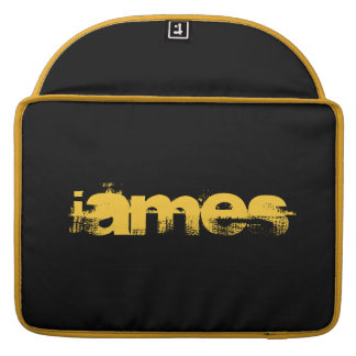 ADD YOUR TEXT! BLACK,YELLOW  MACBOOK SLEEVE