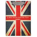 Add Your Text Custom Union Jack Clipboard